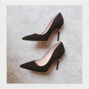 kate spade 黑色高跟鞋