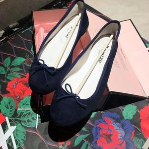 Repetto 丽派朵蓝紫色麂皮芭蕾舞鞋