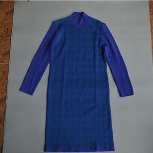 Yves saint Laurent纯羊毛针织长袖连衣裙