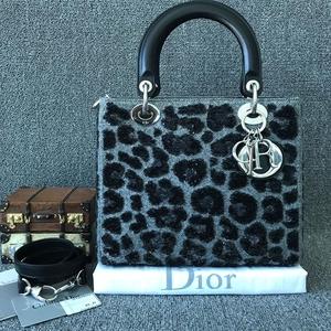Dior迪奥Lady五格戴妃包 限量刺绣豹纹手提包 斜挎包
