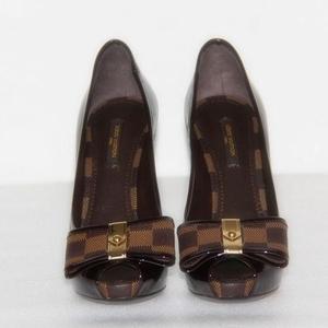 Louis Vuitton 路易·威登漆皮高跟鱼嘴女鞋
