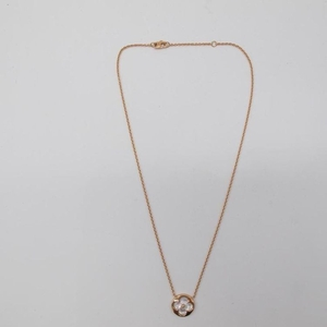 Louis Vuitton 路易·威登玫瑰金与白色珍珠母贝吊坠项链
