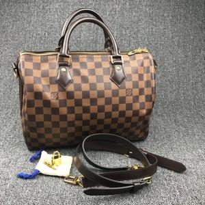 Louis Vuitton 路易·威登speedy30棕棋盘格单肩包