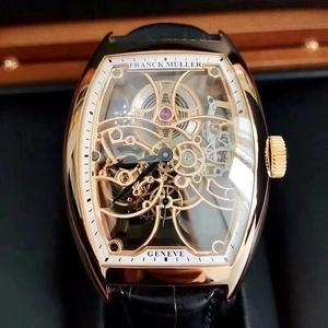Franck Muller 法兰克穆勒18k玫瑰金镂空大号机械男士腕表