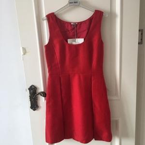 Miu Miu 缪缪羊毛红色连衣裙