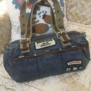 DSQUARED2 D二次方牛仔手提包
