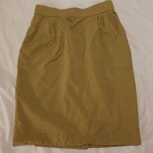 Yves Saint Laurent 伊夫·圣罗兰米色正装短裙