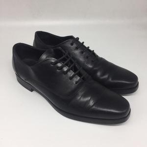 FENDI 芬迪黑色真皮商务正装鞋