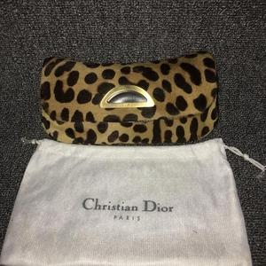 Dior 迪奥限量版马毛豹纹手拿包