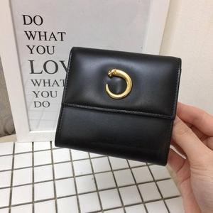 Cartier 卡地亚豹子头box皮短款钱包
