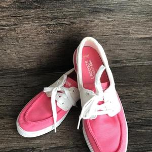 LACOSTE 鳄鱼女式系带帆布休闲鞋
