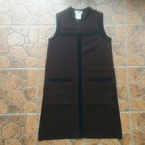 Yves Saint Laurent 伊夫·圣罗兰纯羊毛针织无袖连衣裙