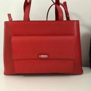 ARMANI 阿玛尼红色手提包