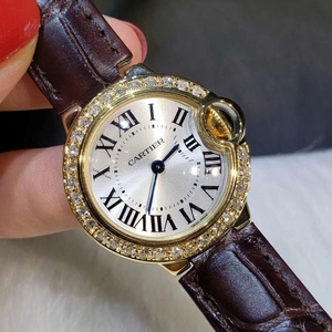 Cartier 卡地亚蓝气球系列玫瑰金后镶钻石石英女表
