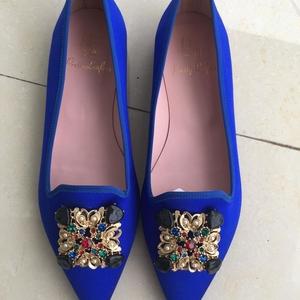 Pretty Ballerinas 芭莉瑞娜蓝色尖头芭蕾舞鞋