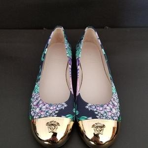 Versace 范思哲经典美杜莎logo平跟鞋