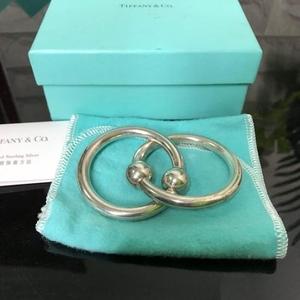 Tiffany & Co. 蒂芙尼925纯银儿童双环手镯