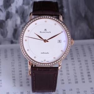 Blancpain 宝珀玫瑰金原镶钻腕表