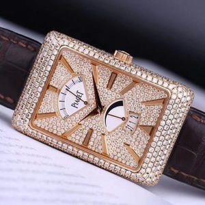 PIAGET 伯爵黑带系列G0A3306018K玫瑰原钻腕表
