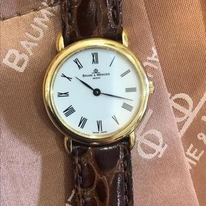 Baume & Mercier 名士18K金女装石英腕表