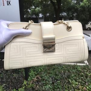 Versace 范思哲美式独特复古白色手提包