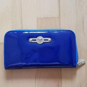 Versace 范思哲蓝色长款钱包