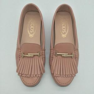 TOD'S 托德斯女士豆豆肉粉色平底鞋