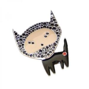 SWAROVSKI 施华洛世奇黑色小猫胸针