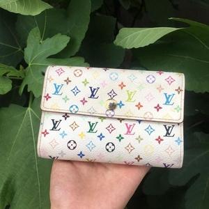 Louis Vuitton 路易·威登白三彩钱包