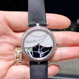 Van Cleef Arpels 梵克雅宝诗意复杂功能18k白金原镶钻自动机械女士腕表