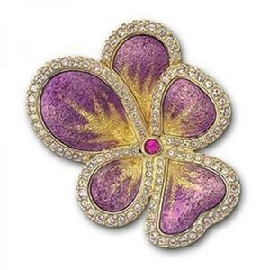 SWAROVSKI 施华洛世奇金边紫色花朵胸针 1080535