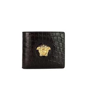 Versace 范思哲鳄鱼压纹美杜莎金头钱包