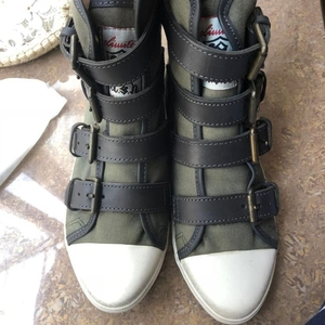 ASH Shoes 艾熙军绿色帆布休闲鞋