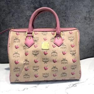 MCM  小樱桃印花波士顿手提包