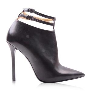 Bottega Veneta 葆蝶家女士黑色牛皮高跟鞋