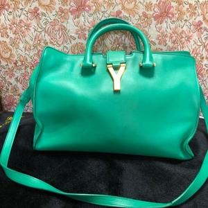 Yves Saint Laurent 伊夫·圣罗兰绿色手拎包