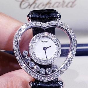 Chopard 萧邦快乐钻石系列白金石英女表