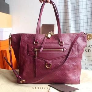 Louis Vuitton 路易·威登朱红色全皮压纹Bastille手袋