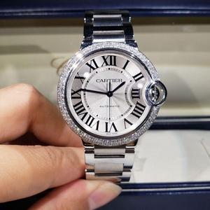 Cartier 卡地亚蓝气球系列中号外圈后镶钻石自动机械腕表