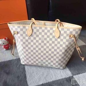 Louis Vuitton 路易·威登中号白色棋盘格单肩包