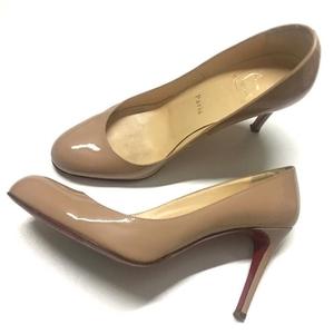 Christian Louboutin 克里斯提·鲁布托红底鞋细跟裸色高跟鞋