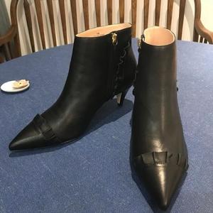 Kate Spade 凯特·丝蓓猫跟短靴靴子