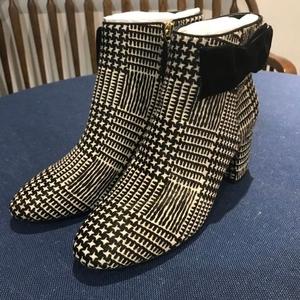 Kate Spade 凯特·丝蓓新款千鸟格短靴靴子