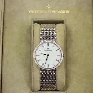 Vacheron Constantin 江诗丹顿传承系列白金镶钻机械表