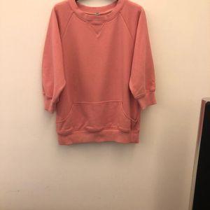 Y3淡粉色卫衣