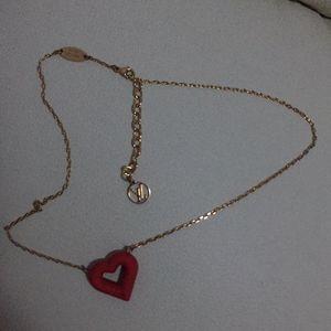Louis Vuitton 路易·威登红色心形项链