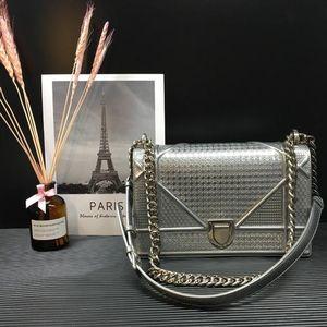 Dior 迪奥银色链条斜挎包
