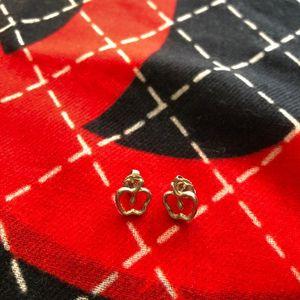 Tiffany & Co. 蒂芙尼苹果造型银耳钉