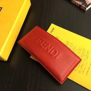 FENDI 芬迪红色真皮LOGO发夹
