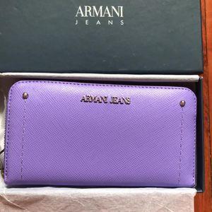 Armani Jeans 阿玛尼女士十字纹钱包